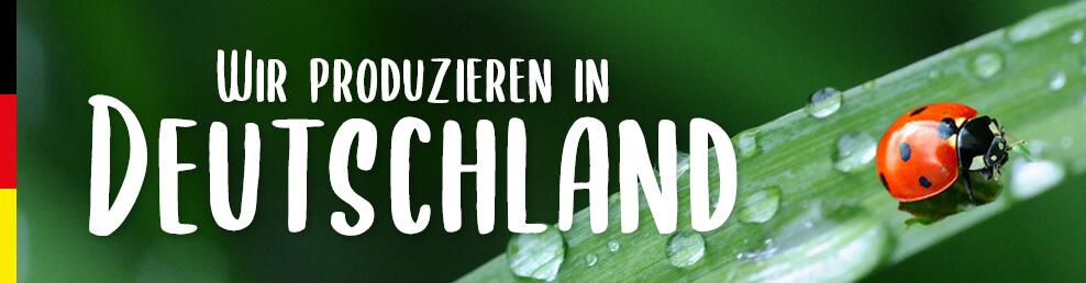 Wir produzieren in Deutschland - Schriftzug