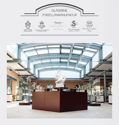 Logo der Glaesernen Porzellanmanufaktur